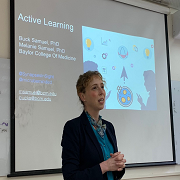 "Dr Melanie Samuel, Visiting Professor, teaches us about ""Active Learning"""