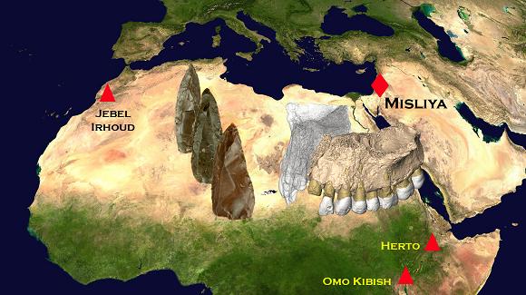 Map of prehistoric Misliya Cave