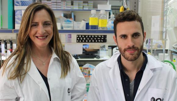 Professor Karen Avraham and Shahar Taiber of Tel Aviv University.