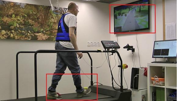 Virtual reality & treadmill training